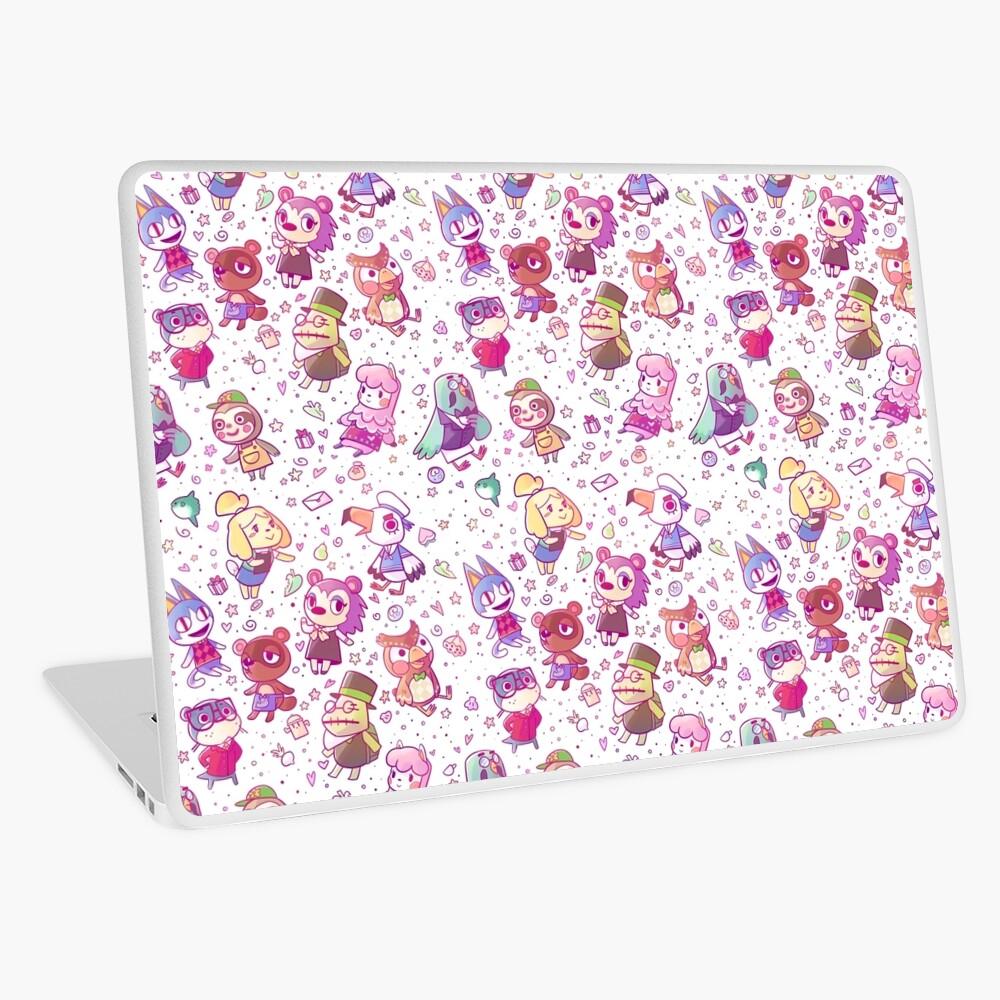 Animal Crossing Pattern Laptop Skin