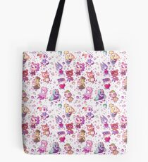Tier Kreuzung Muster Tote Bag