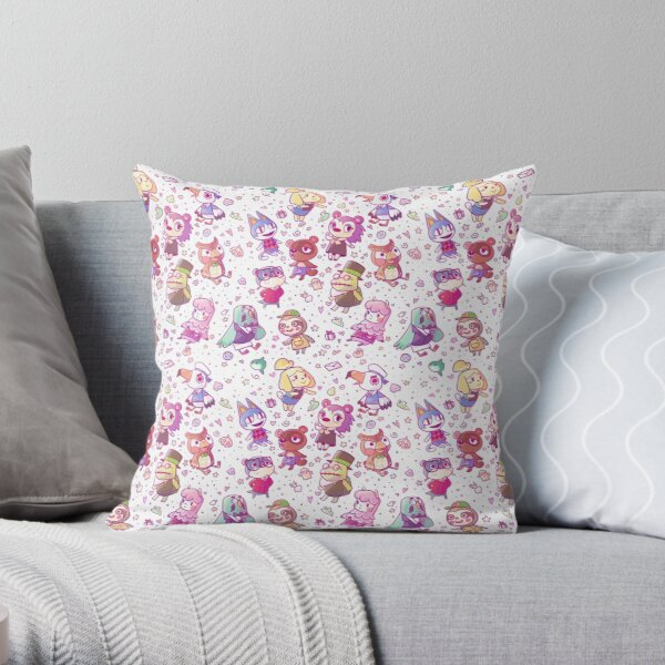 Animal Crossing Pattern Throw Pillow