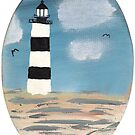 Bodie Island Lighthouse painting, bodie island, carolina, nc beach, beach painting, nags head, north carolina, cape hatteras by bwatkinsphoto