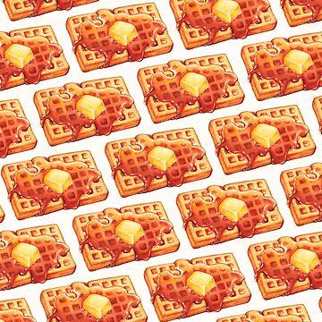 Waffle Pattern 2 - White by KellyGilleran