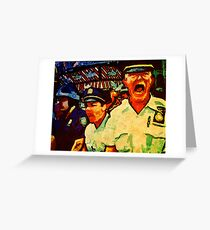 Really Pissed Off Cops Greeting Card