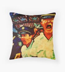 Really Pissed Off Cops Throw Pillow