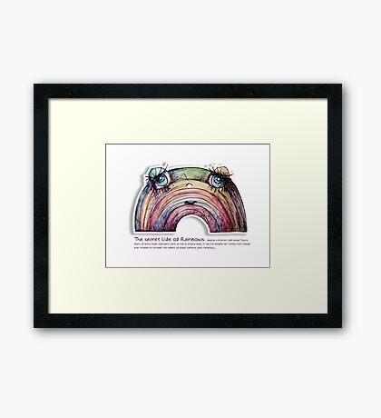 Little Profiles The Secret Life of Rainbows Framed Print