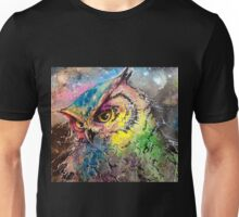 Galaxy Owl Unisex T-Shirt