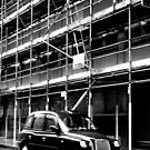 Taxi and scaffolding by Richmondie