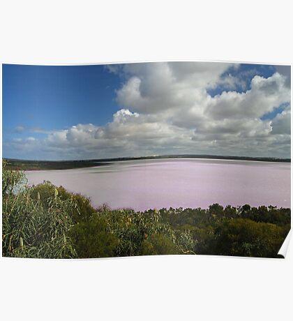 Pink Lake, Esperance, Western Australia Poster