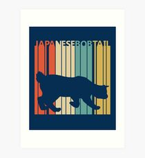 Japanese Bobtail Cat Art Print