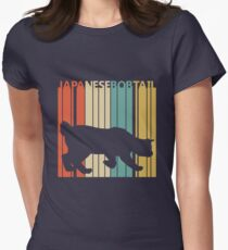 Japanese Bobtail Cat Women's Fitted T-Shirt