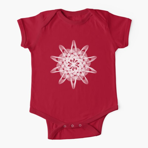 Spirograph with white Short Sleeve Baby One-Piece