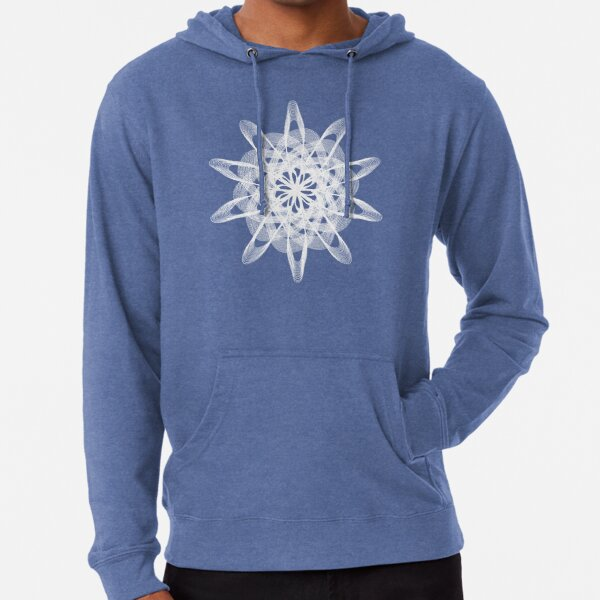 Spirograph with white Lightweight Hoodie