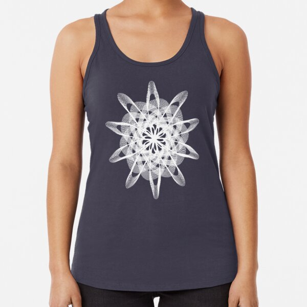Spirograph with white Racerback Tank Top