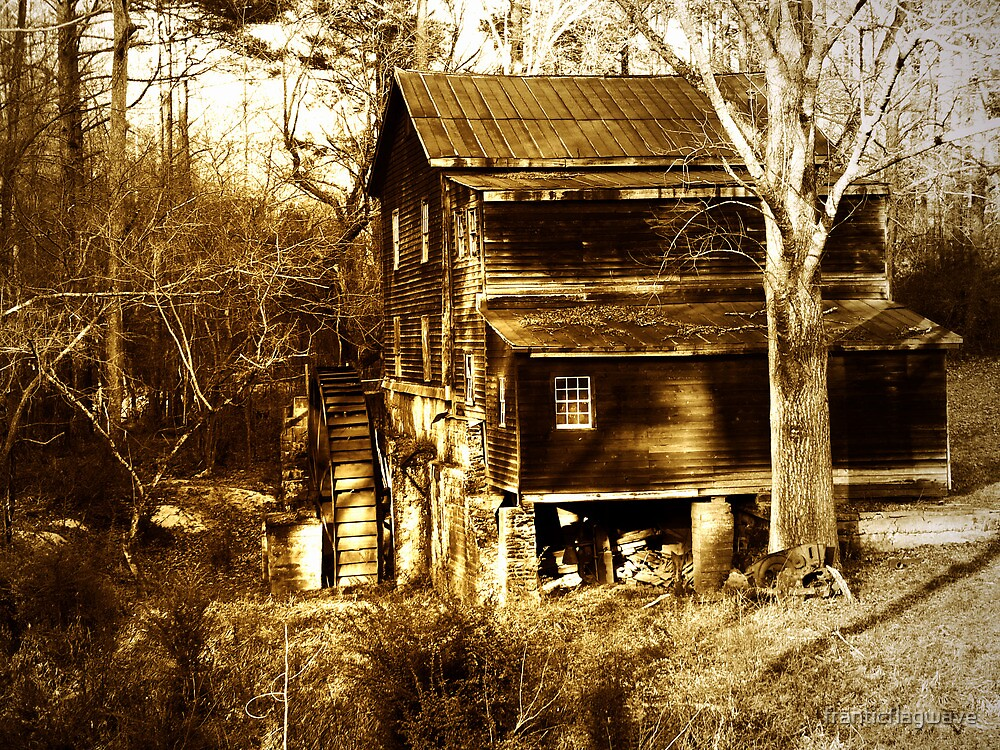 """Freeman's Mill In Sepia"" by franticflagwave"