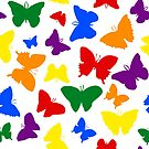 Rainbow Pride Butterflies by Emery Smith