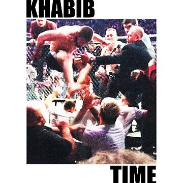 Khabib jumping from the Cage like an Eagle by queendeebs