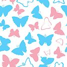 Trans Pride Butterflies by Emery Smith