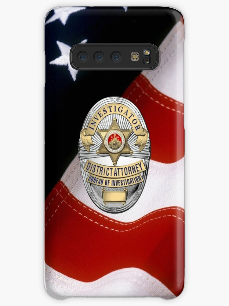'Los Angeles County District Attorney - Investigator Badge over American  Flag' Case/Skin for Samsung Galaxy by Serge Averbukh