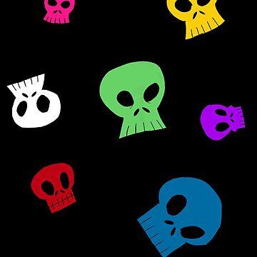 Rainbow skulls by BlackSkull13