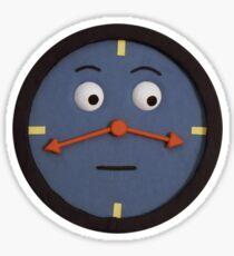 don't hug me i'm scared clock Sticker