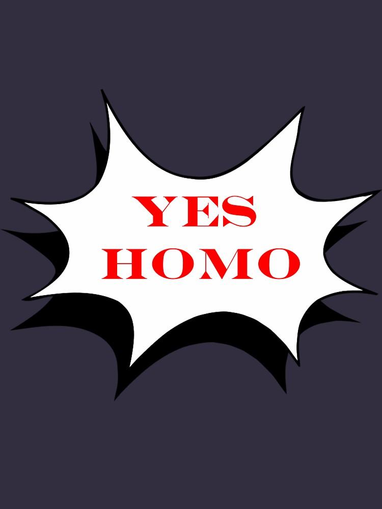 Ja Homo - Blauer Text von CoppersMama