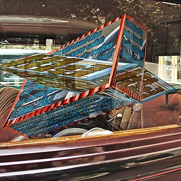 Antique car interior with 3D text boxes by KFRose
