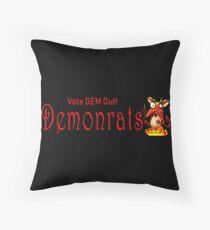 Demonrats Throw Pillow