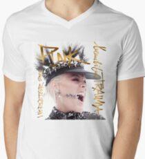 schönes tiefes Rosa 2019 Tour Trauma Mungung T-Shirt mit V-Ausschnitt für Männer