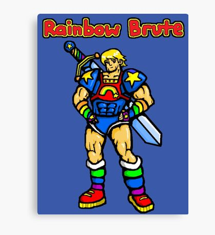 Rainbow Brute Canvas Print