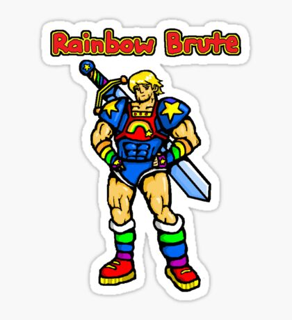 Rainbow Brute Sticker