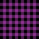Buffalo Plaid - Purple & Black by MilitaryCandA