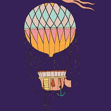Retro Vintage Hot Air Balloon Tshirt Gifts by SABRA11
