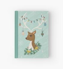 Vintage Inspired Deer with Decorations Hardcover Journal