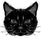 Pagan Animals - Black Cat Face by Nishita Wojnar