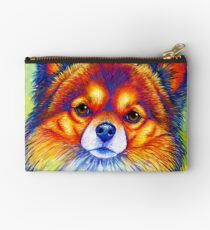 Colorful Long Haired Chihuahua Dog Studio Pouch