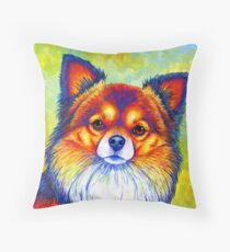 Colorful Long Haired Chihuahua Dog Floor Pillow