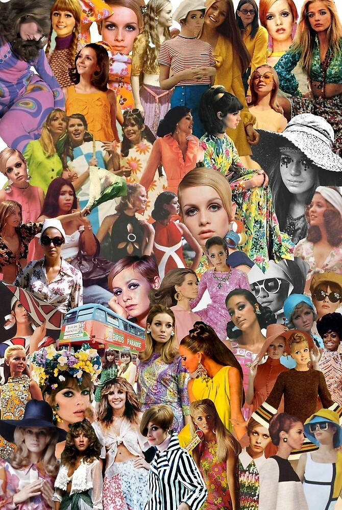 Quot 1960s Fashion Collage Quot By Charlotteflann Redbubble