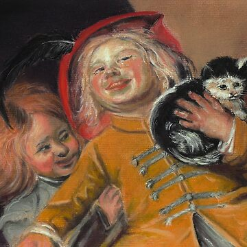 Laughing Children with Cat, after Judith Leyster by phumbargar