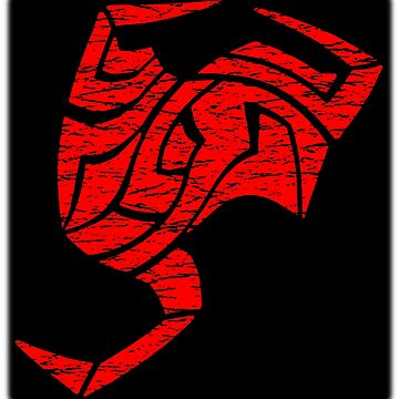 Illustrated Tribal Scorpion in Red by rtaylor111