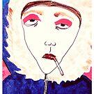 Winter Rauchen Punk Chick von JennAshton