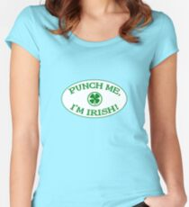 Punch Me, I'm Irish Women's Fitted Scoop T-Shirt