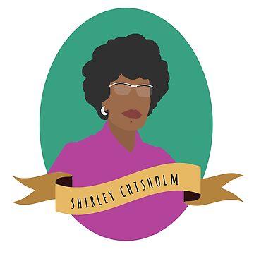 Shirley Chisholm Round Portrait by thefilmartist