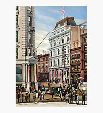 Rare large view of the New York Stock Exchange 1882 Photographic Print