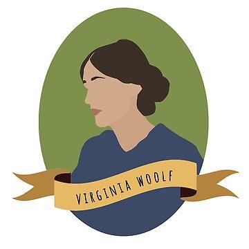 Virginia Woolf Round Portrait by thefilmartist