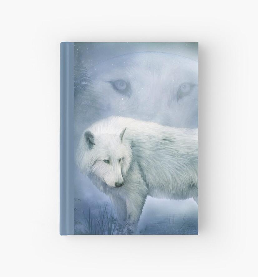 Weißer Wolf - Mondgeist 2 von Carol  Cavalaris