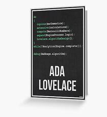 ADA LOVELACE - Women in Science Greeting Card
