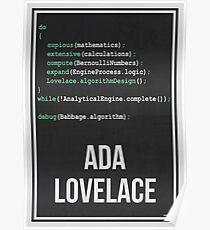 ADA LOVELACE - Frauen in der Wissenschaft Poster