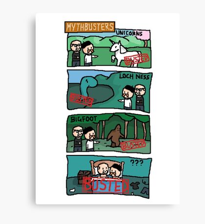 Myth.. busted Canvas Print