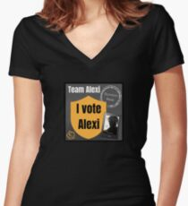 Team Alexi Wars Women's Fitted V-Neck T-Shirt
