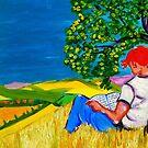 om Provencal Hills by Rusty  Gladdish