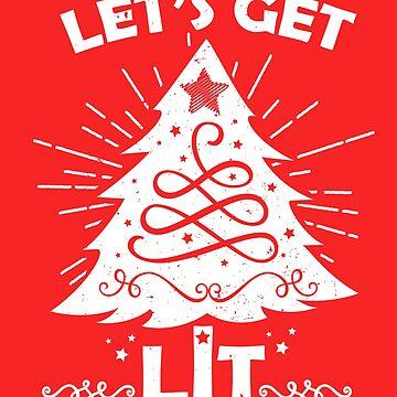 Let's Get Lit - White by digitalbarn